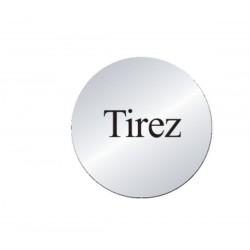 Plaque Tirez (lnox)