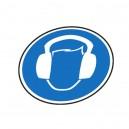 Protection obligatoire de l'ouïe Vinyl sol Ø400 mm
