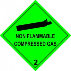 Etiquette Non flammable compressed Gas Classe 2 en anglais