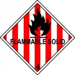 Flammable Solid Classe 4 en anglais
