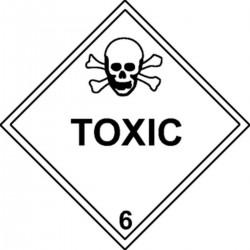 Etiquette Toxic Classe 6 en anglais