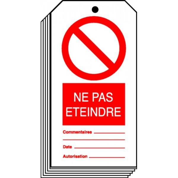 Etiquette Ne Pas Eteindre Stocksignes