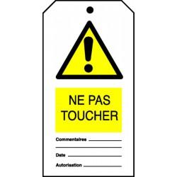 Etiquette Ne pas toucher