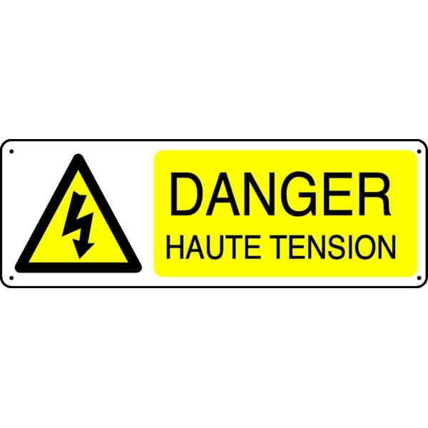 Panneau danger haute tension stocksignes for Haute tension mots fleches