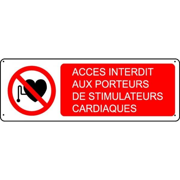 Panneau Acc 232 S Interdit Aux Porteurs De Stimulateurs