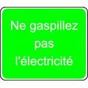 Ne gaspillez pas l'électricité