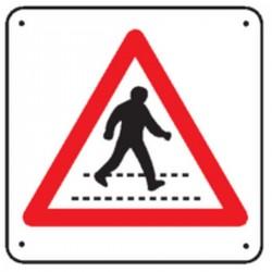 Panneau Attention Passage Piétons (Renforcé)