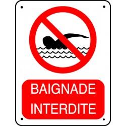 Pictogramme baignade interdite