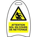 Attention sol en cours de nettoyage