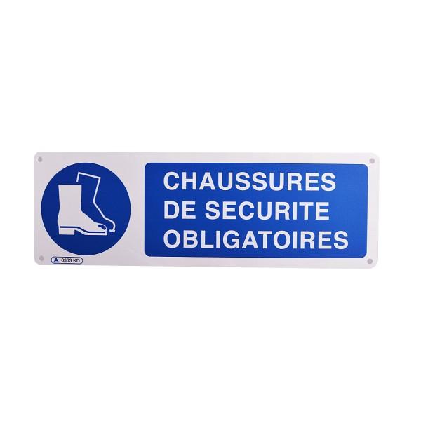 Panneau chaussures de s curit obligatoires stocksignes - Port des lunettes de securite obligatoire ...