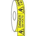 Danger 230 Volts Etiquettes 25x50 mm Bde de 50