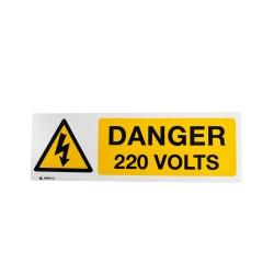 Panneau Danger 220 Volts