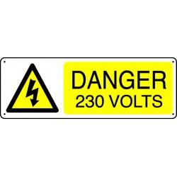 Panneau Danger 230 Volts