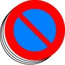 Etiquettes vinyle Ø50mm Stationnement interdit (lot de 12)