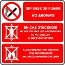 Défense de fumer/No smoking /Ascenseur