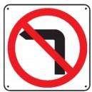 Défense de tourner à gauche Picto Renforcé