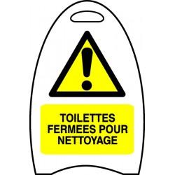 Chevalet toilettes ferm es pour nettoyage stocksignes - Nettoyage toilettes encrassees ...