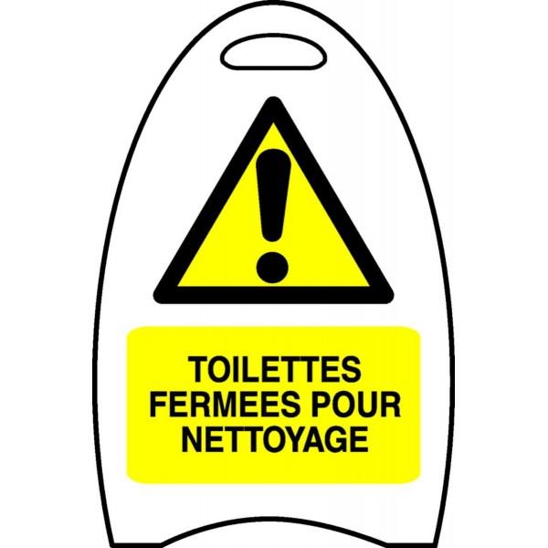 chevalet toilettes ferm es pour nettoyage stocksignes. Black Bedroom Furniture Sets. Home Design Ideas