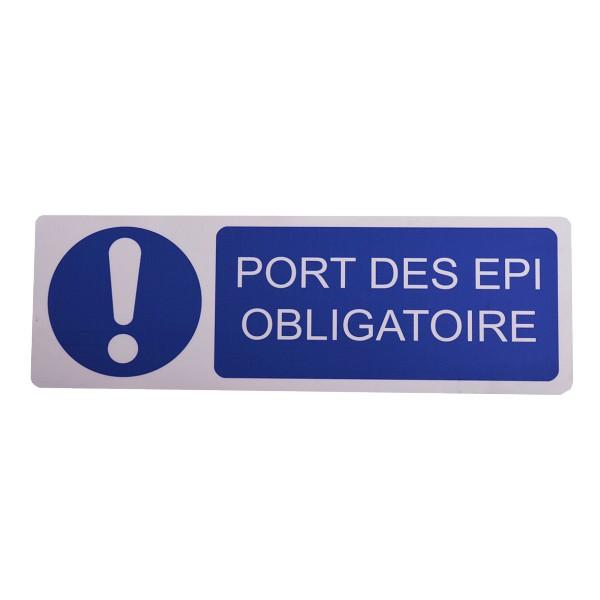 Panneau port des epi obligatoire stocksignes - Port des lunettes de securite obligatoire ...