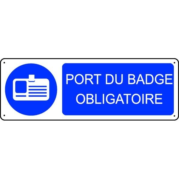 Panneau port du badge obligatoire stocksignes - Port du gilet obligatoire ...