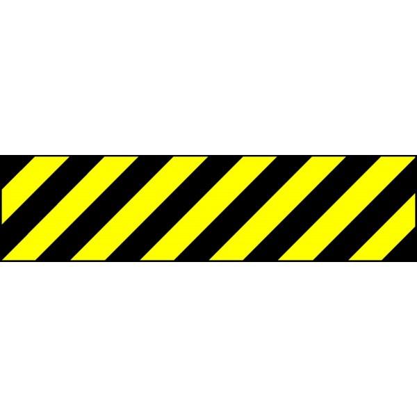 bande alu r fl chissante noir jaune stocksignes