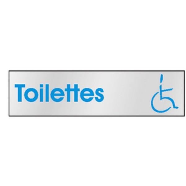 Plaque de porte toilettes pmr stocksignes for Porte wc pmr