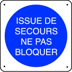 Issue de Secours Ne pas Bloquer