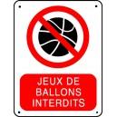 Jeux de ballons interdit