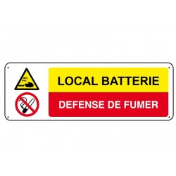 Local Batterie Défense de Fumer