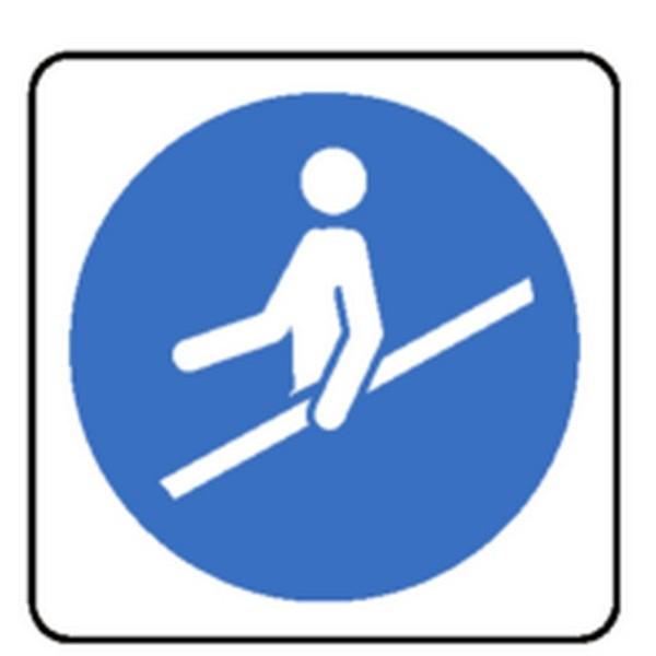 Pictogramme Tenir La Rampe Des Escaliers Roulants