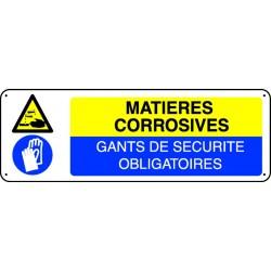 Matières corrosives Gants de sécurité obligatoires