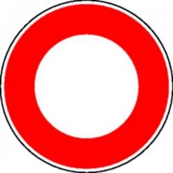 Panneau Accès interdit à tous véhicules Classe 1