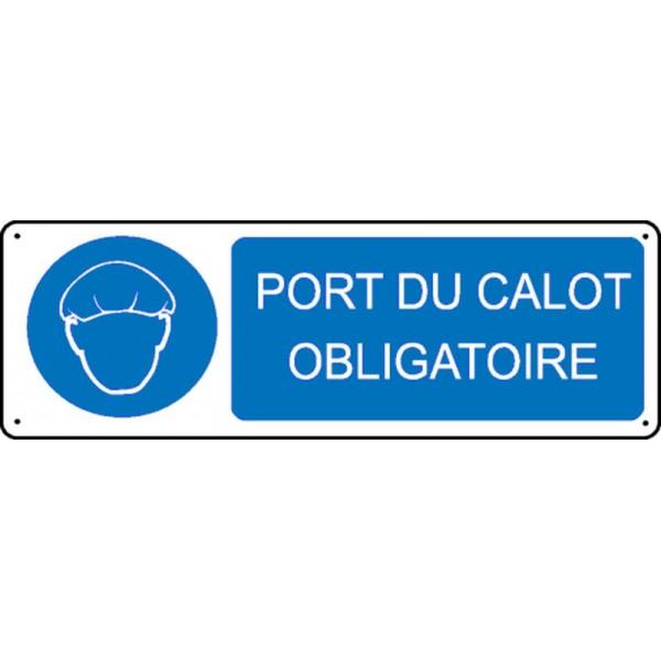 Panneau port du calot obligatoire stocksignes - Port du gilet obligatoire ...