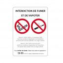 Panneau Interdiction de fumer et de vapoter