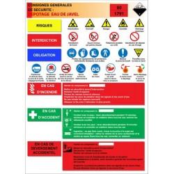 Affiche d potage eau de javel stocksignes - Eau de javel danger ...