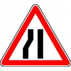 Panneau Chaussée rétrécie à gauche Classe 1