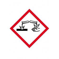 Etiquette Matières corrosives Vinyle adhésif