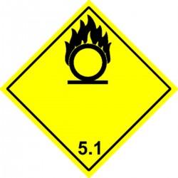 Etiquette Matières comburantes Classe 5.1