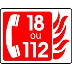 18 ou 112 +Tel Picto