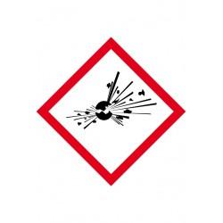 Matières explosives Velin adhésif