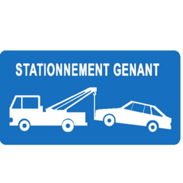 panneau stationnement g nant 39 renforc 39 belge stocksignes. Black Bedroom Furniture Sets. Home Design Ideas
