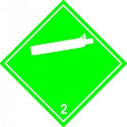 Etiquette Gaz comprimé Classe 2