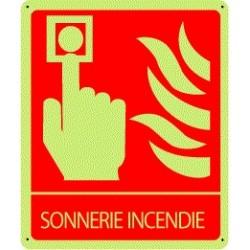 Panneau Sonnerie Incendie Photoluminescent