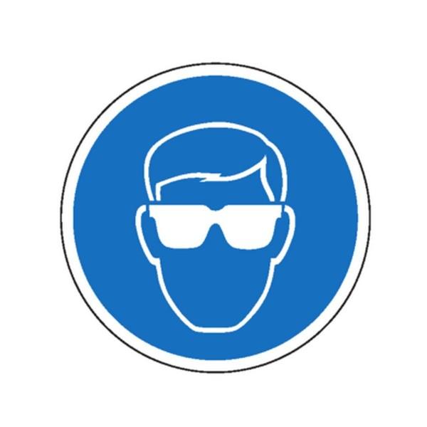 Lunettes obligatoires picto pour sol stocksignes - Port des lunettes de securite obligatoire ...