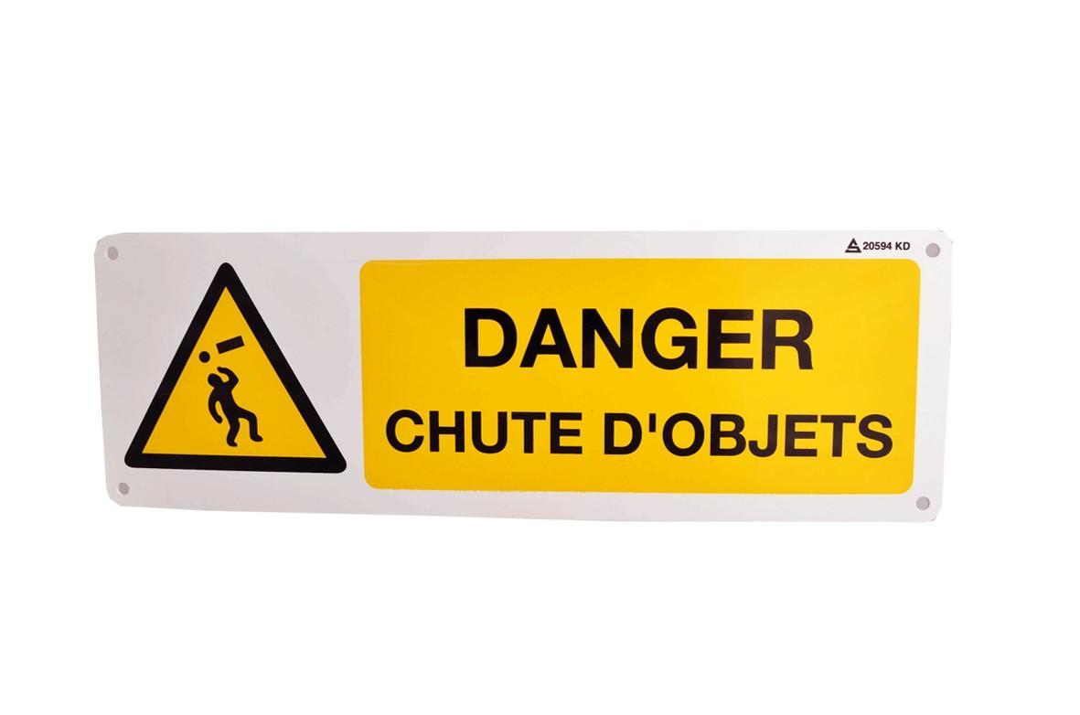 Pictogramme Danger Chute d'objets