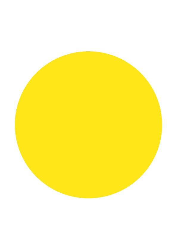Pastilles de couleur jaune