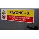 Rayons X Ne pas entrer sans autorisation