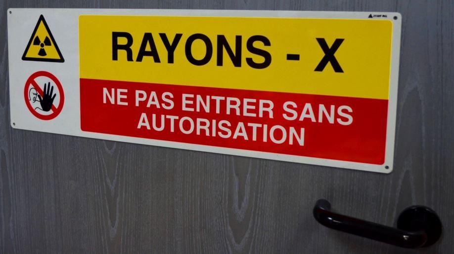 Panneau Rayons X Ne pas entrer sans autorisation