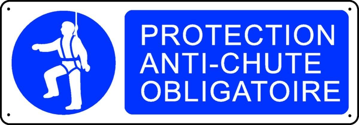 Panneau Protection Anti-Chute Obligatoire
