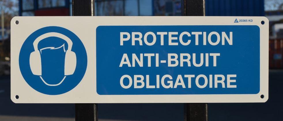 Panneau Protection Anti-bruit Obligatoire